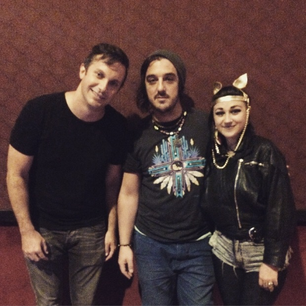 Dan with Perrin and Nai from Hiatus Kaiyote